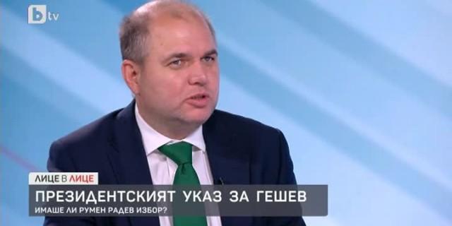 Владислав Панев: Гешев се показва изкушен да бъде диктатор още преди да е избран