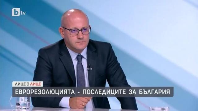 Радан Кънев: Да кажеш, че резолюцията на ЕП е предателство, е все едно да кажеш, че диагнозата е причина за болестта